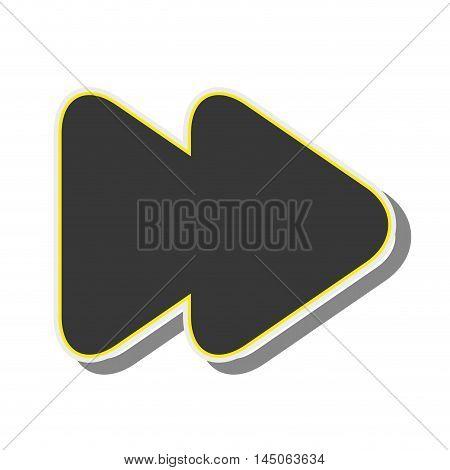 arrow next back button orientation navigation silhouette vector illustration