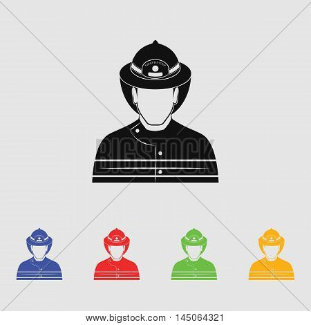 Fireman  Vector Icon for web and mobile