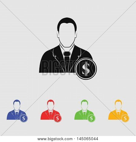 Banker Vector Icon for web and mobile