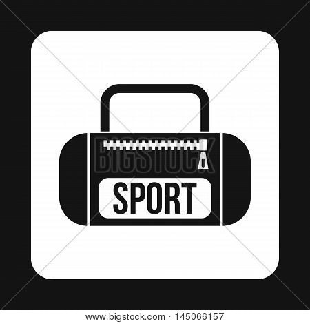 Sports bag icon in simple style on a white background