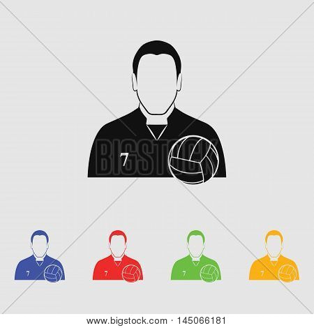 Volleyball player  Vector Icon for web and mobile