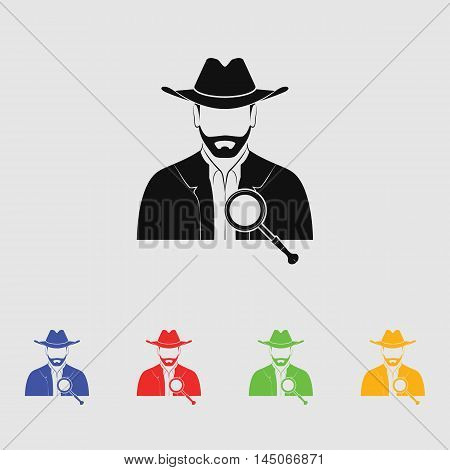 Detective  Vector Icon for web and mobile