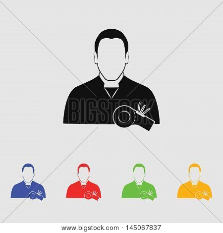 Referee  Vector Icon for web and mobile