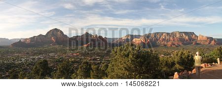 Sedona. Arizona Red Rocks Canyon Desert Panorama