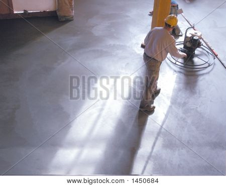 Drying concrete floor during loft