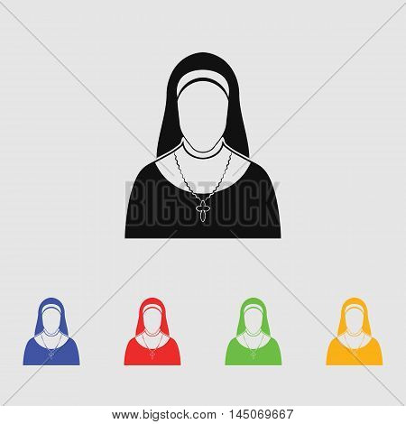 Nun  Vector Icon for web and mobile