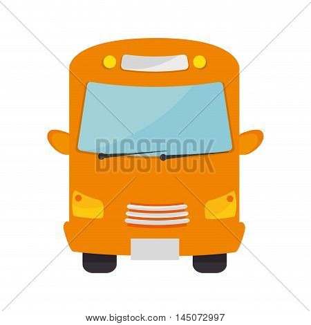 school bus transport vehicle auto urban public service silhouette vector illustration