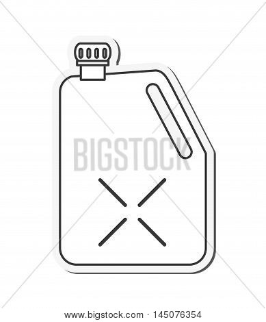 can petroleum gasoline oil industry industrial icon. Flat and isolated design. Vector illustration