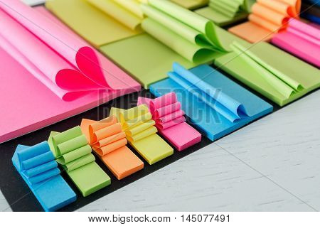Sticky notes arranged in a creative way
