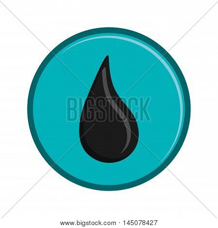 drop button petroleum gasoline oil industry industrial icon. Flat and isolated design. Vector illustration
