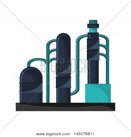 plant factory industry building industrial icon. Flat and isolated design. Vector illustration
