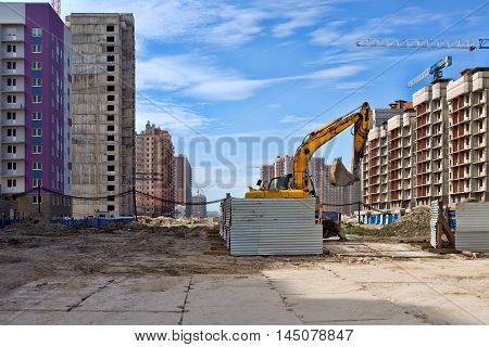 construction of the new building estate nobody