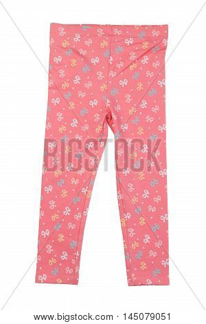 Cotton pink pants home. Isolate on white.