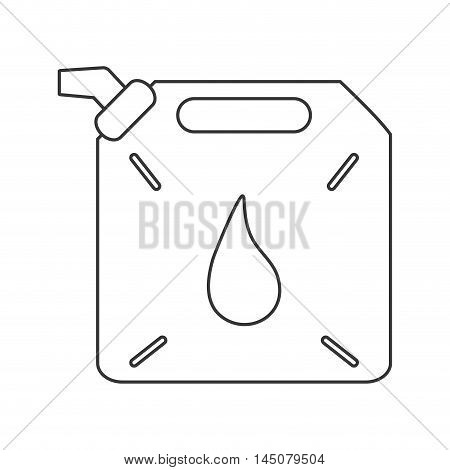 can drop petroleum gasoline oil industry industrial icon. Flat and isolated design. Vector illustration