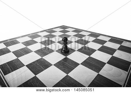 black pawn Chess isolated on the board