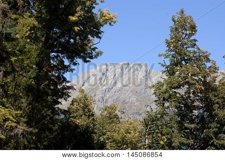 Mountain like a human profile, photo made in Abkhazia
