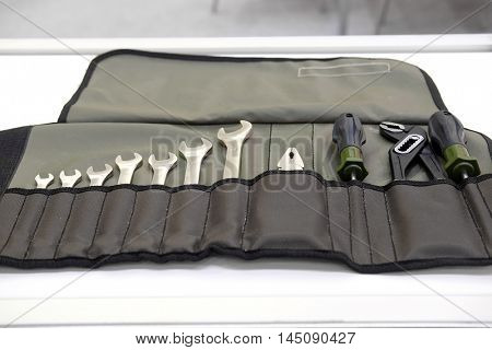 Tool case with a hand tools