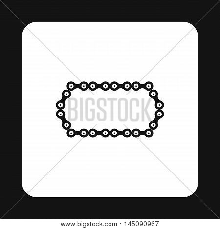 Bike chain icon in simple style isolated on white background. Mechanical parts symbol