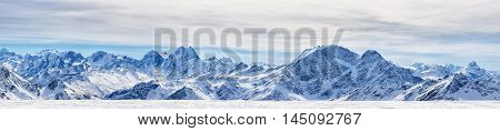 Panoramic View Of The Northen Caucasus Mountains