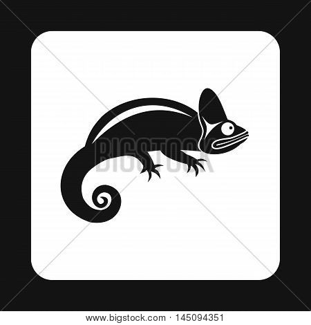Chameleon icon in simple style isolated on white background. Reptiles symbol