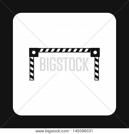 Car barrier icon in simple style isolated on white background. Obstacle symbol