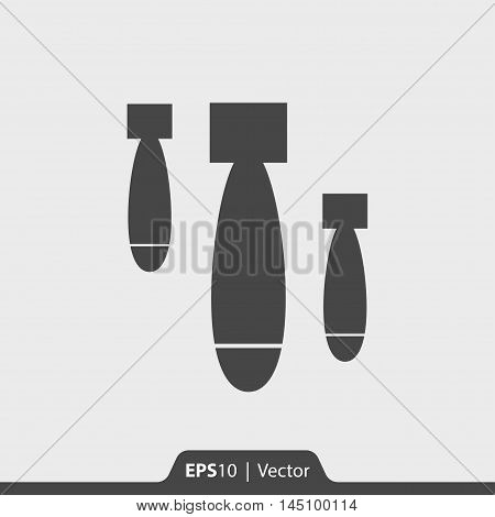 Air Bomb Vector Icon For Web And Mobile