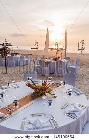 Wedding Ceremony Place On A Tropical Beach In Thailand