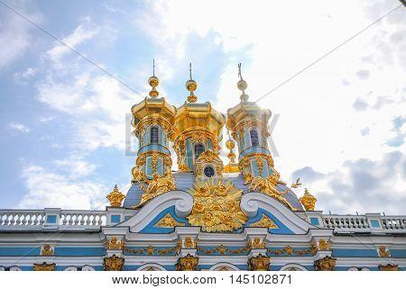 Domes Of Tsarskoye Selo In St. Petersburg