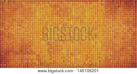 Orange abstract mosaic background with effect, Mosaic grunge background,  Squares Of Light And Dark orange