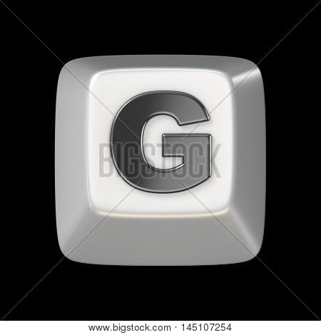 Computer Keyboard Key Font. Letter G 3D