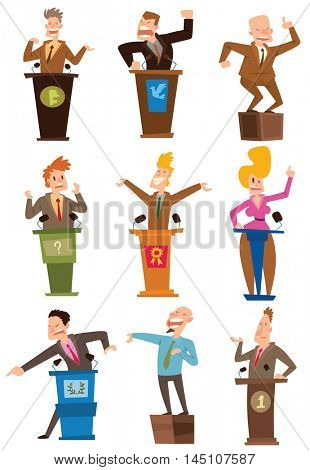 Politicians people vector set.