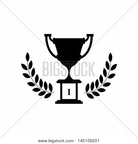 Cup, first place, silhouette on a white background.