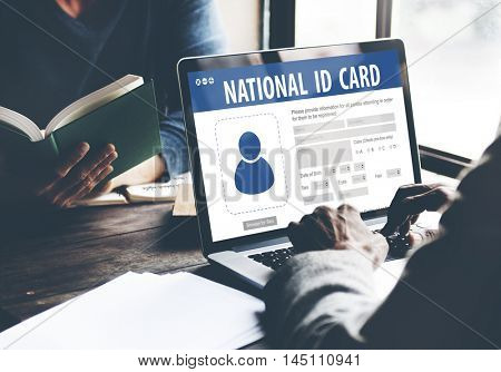 National Identification Card Data Information Citizen Concept