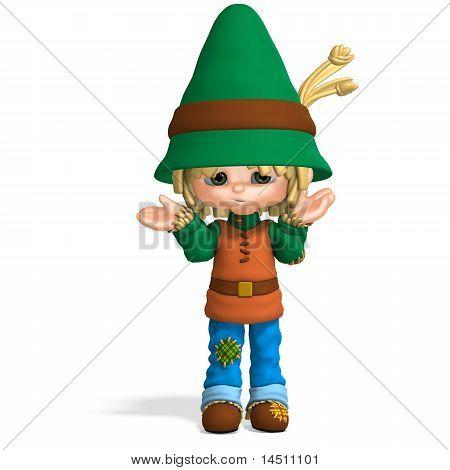 cute and funny cartoon farmer boy