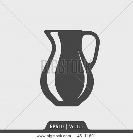 Glass Decanter Vector Icon For Web And Mobile