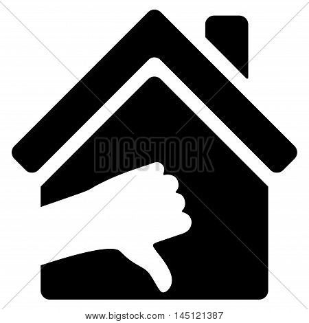 Terrible House icon. Vector style is flat iconic symbol, black color, white background.