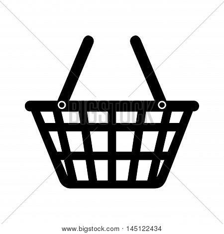 basket market buy shop store  icon design, vector illustration