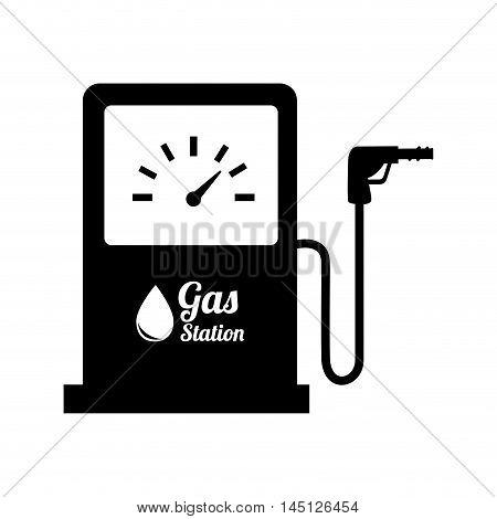 station gasoline pump oil design vector illustration eps 10