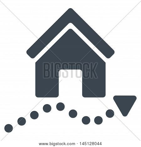 Realty Trend icon. Vector style is flat iconic symbol, smooth blue color, white background.