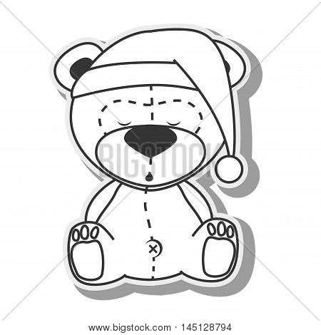 bear teddy hat design vector illustration eps 10