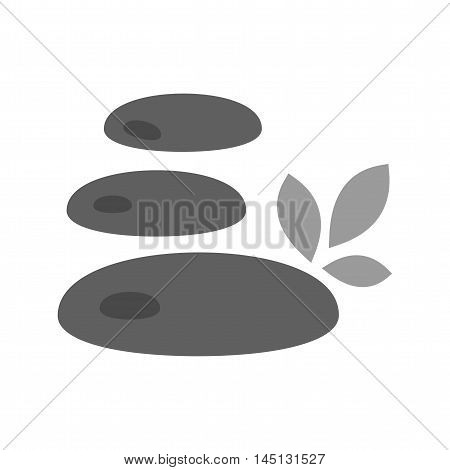 Stone, rock, white icon vector image. Can also be used for spa. Suitable for mobile apps, web apps and print media.