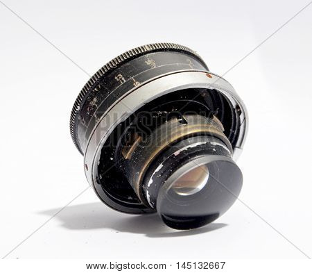 picture of a Vintage camera lens close-up .nostalgia concept