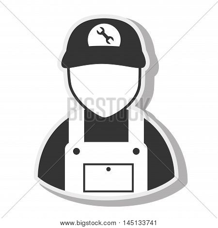 man avatar mechanic isolated vector illustration eps 10