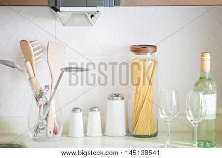 Kitchen and cooking ingredients