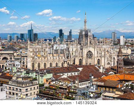 Duomo Di Milano Cathedral In Milan Hdr