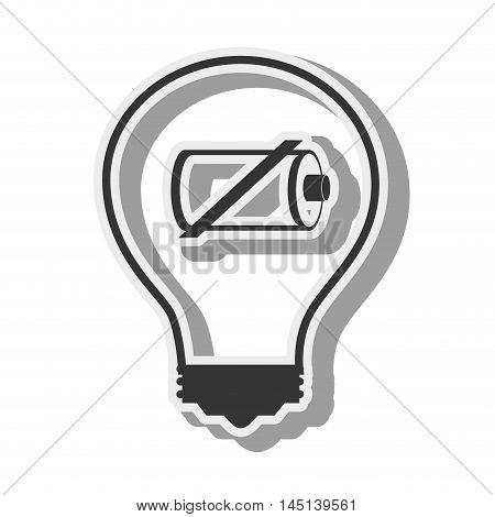 bulb battery recharge design vector illustration eps 10