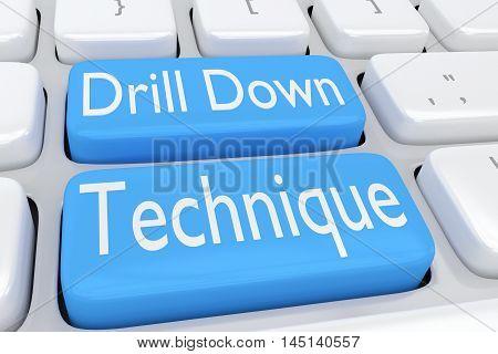 Drill Down Technique Concept