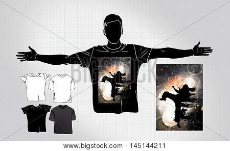 Man's t-shirt design