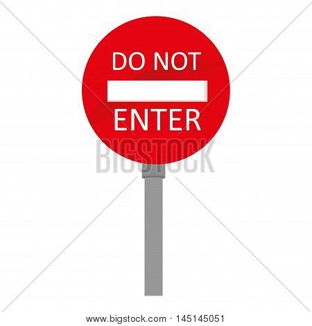 sign do not enter traffic isolated vector illustration eps 10