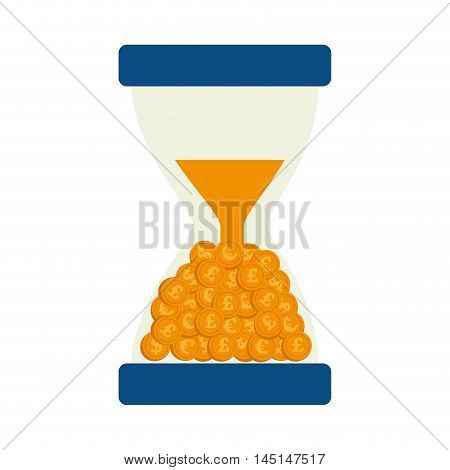 money currency time clock isolated vector illustration esp 10